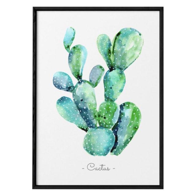 décoration murale affiche cactus