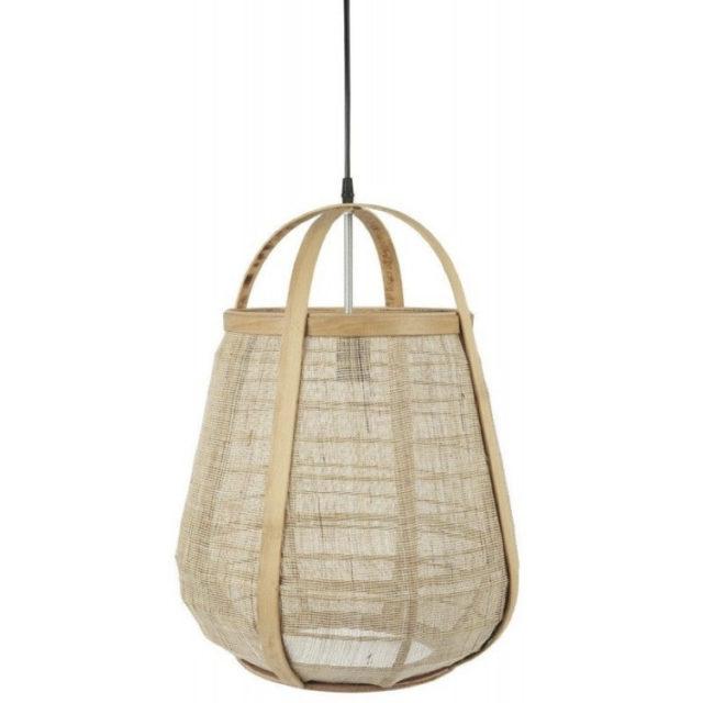 suspension style nature jute et bambou