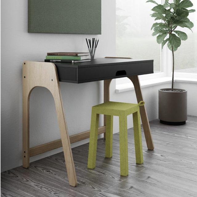 petit bureau avec tiroir pratique gain de place