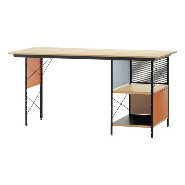 bureau gain de place couleur retro