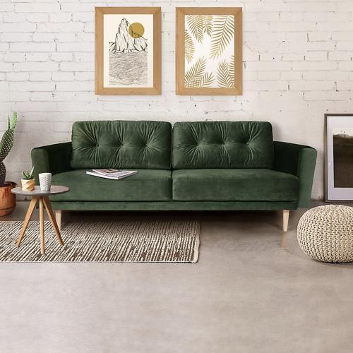 canapé velours vert