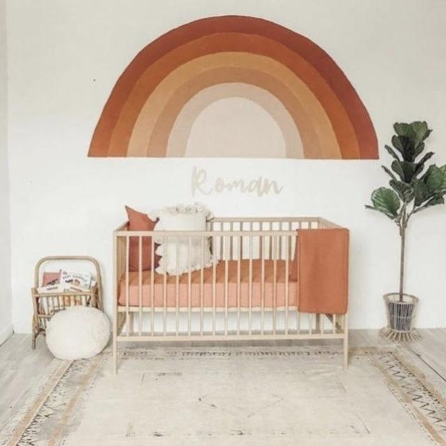 couleur terracotta style decoration enfant arc en ciel