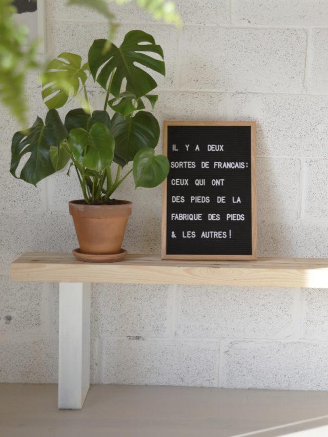 pietement de meuble pour mobilier a creer soi meme