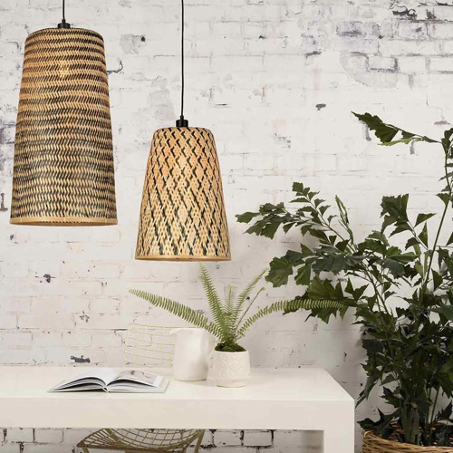 décoration naturelle luminaire tressé