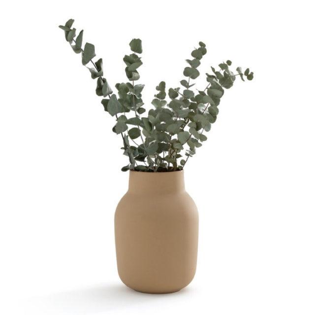 intérieur style nature vase couleur moutarde