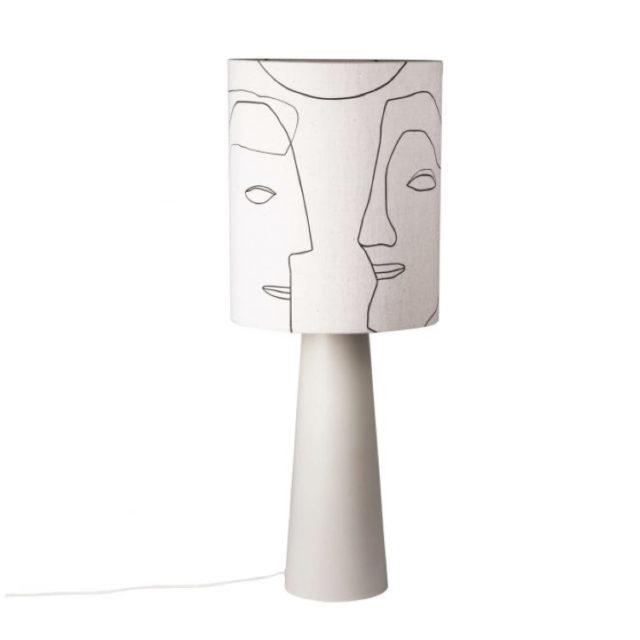 style nature lampe abat-jour visage
