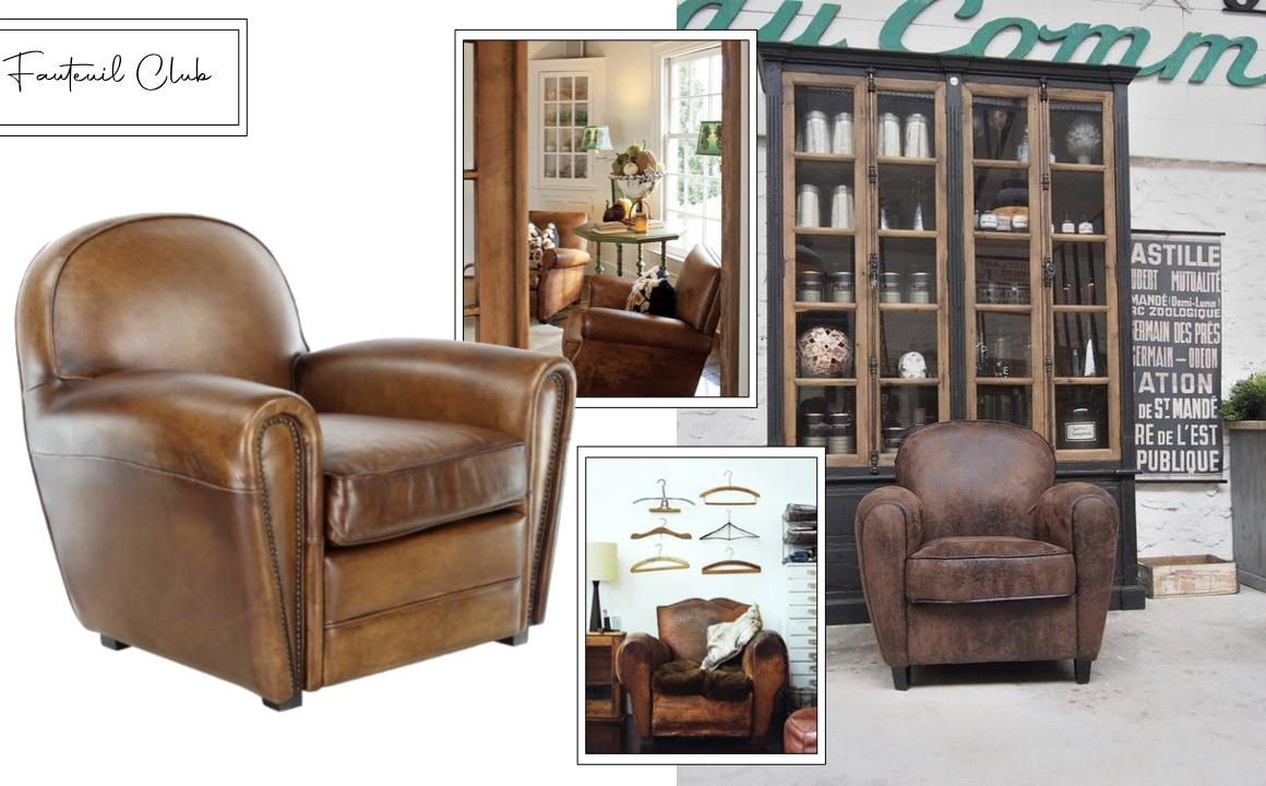 fauteuil club decoration salon idee deco classique chic