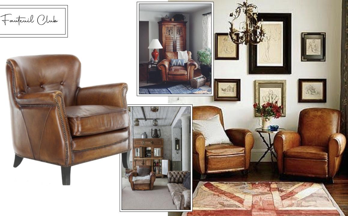 fauteuil club decoration salon inspiration style