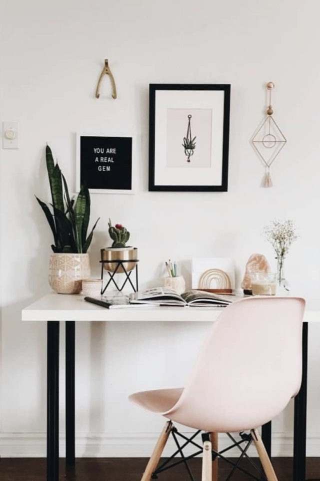 gain de place petit bureau feminin blanc