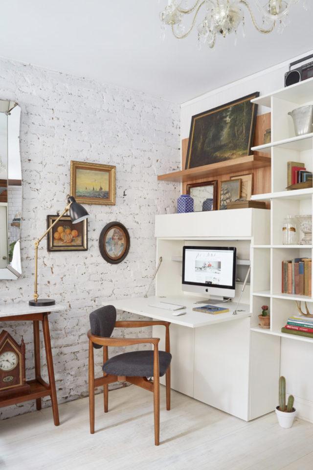 gain de place petit bureau secretaire rangement