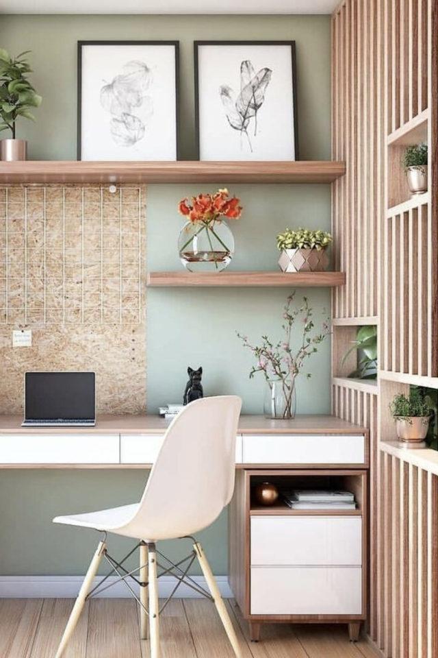 gain de place petit bureau domicile teletravail sur mesure