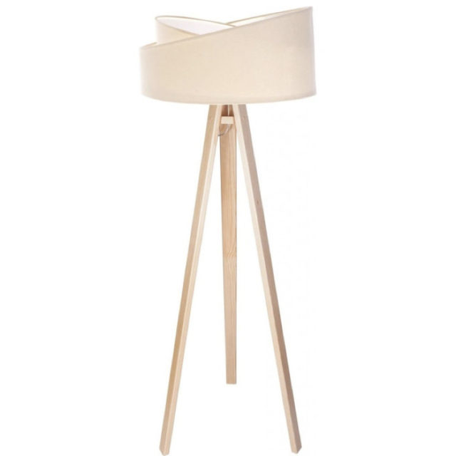 style nature lampadaire 3 pieds et abat-jour original