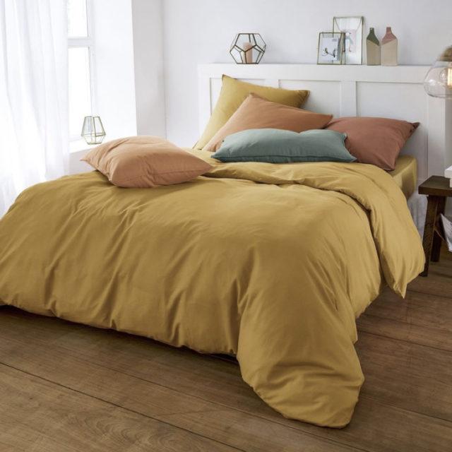 ambiance déco nature chambre linge de lit