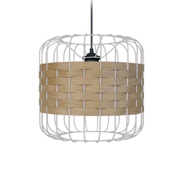 suspension style nature métal et bois
