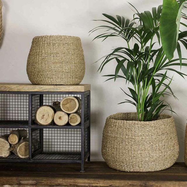 intérieur style nature cache-pot rotin osier