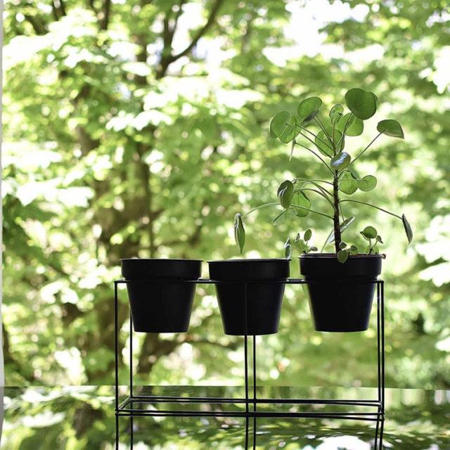 intérieur style naturel cache-pot par 3 noir simple