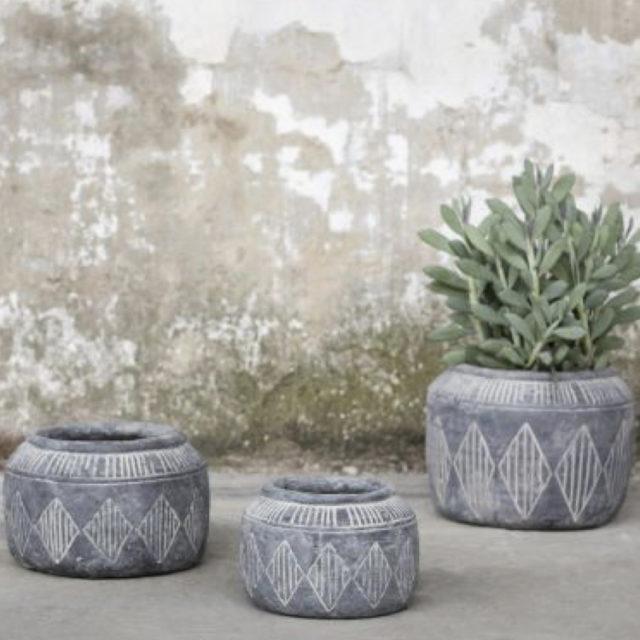 intérieur style naturel cache-pot plantes vertes