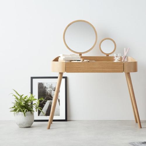 coiffeuse bois miroir chambre nature