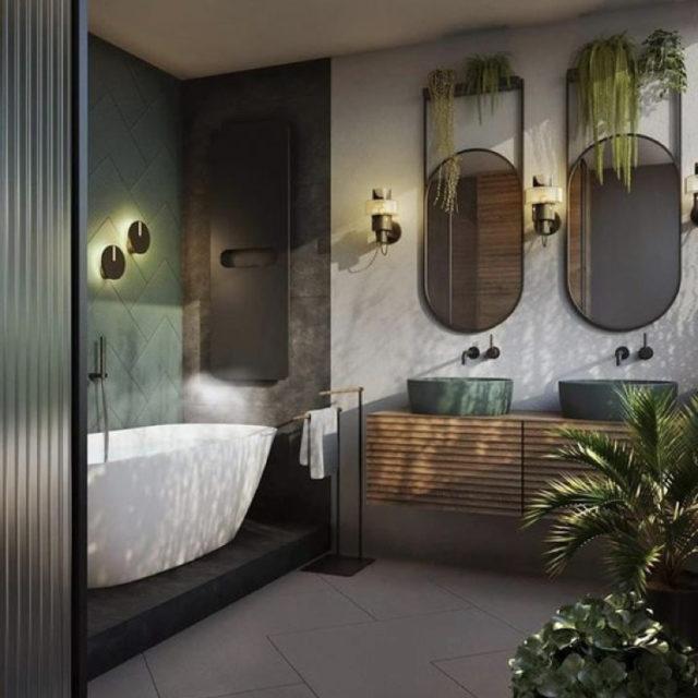 salle de bain style nature design