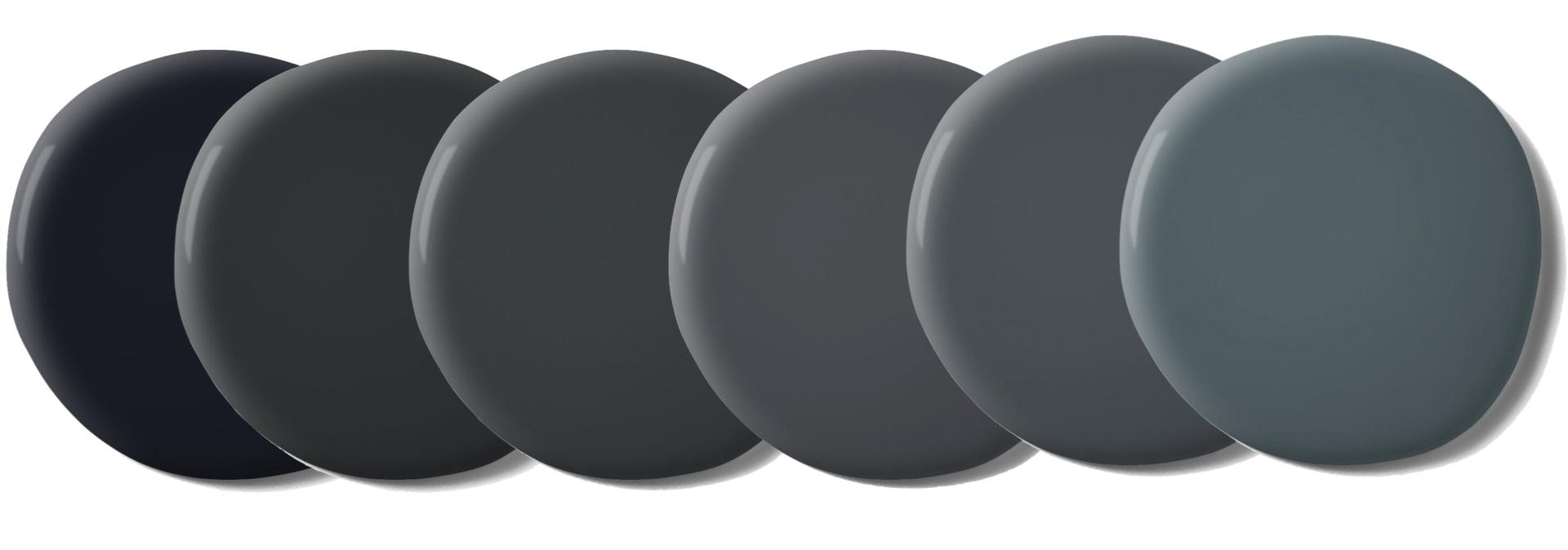 palette couleur gris fonce tendance