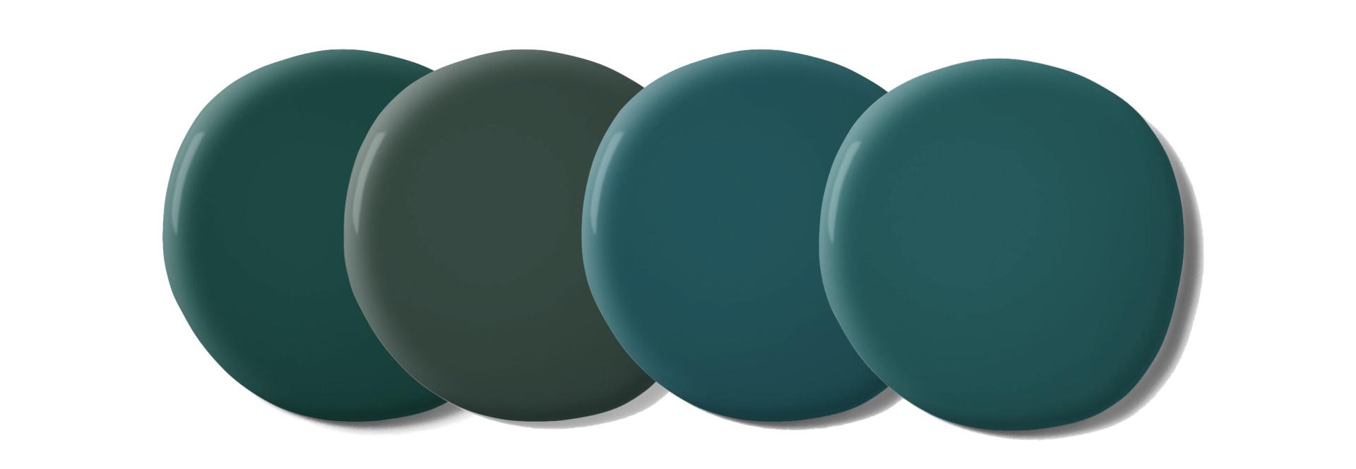 palette couleur vert fonce tendance