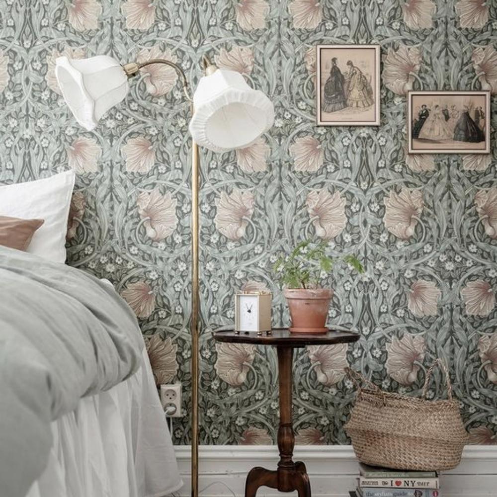 papier peint fleur chambre romantique 2