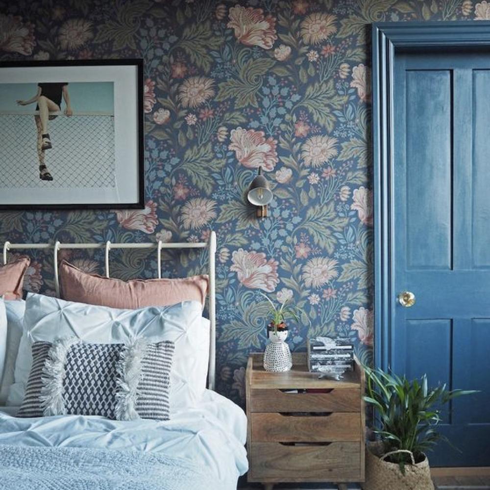 papier peint fleur chambre romantique 3