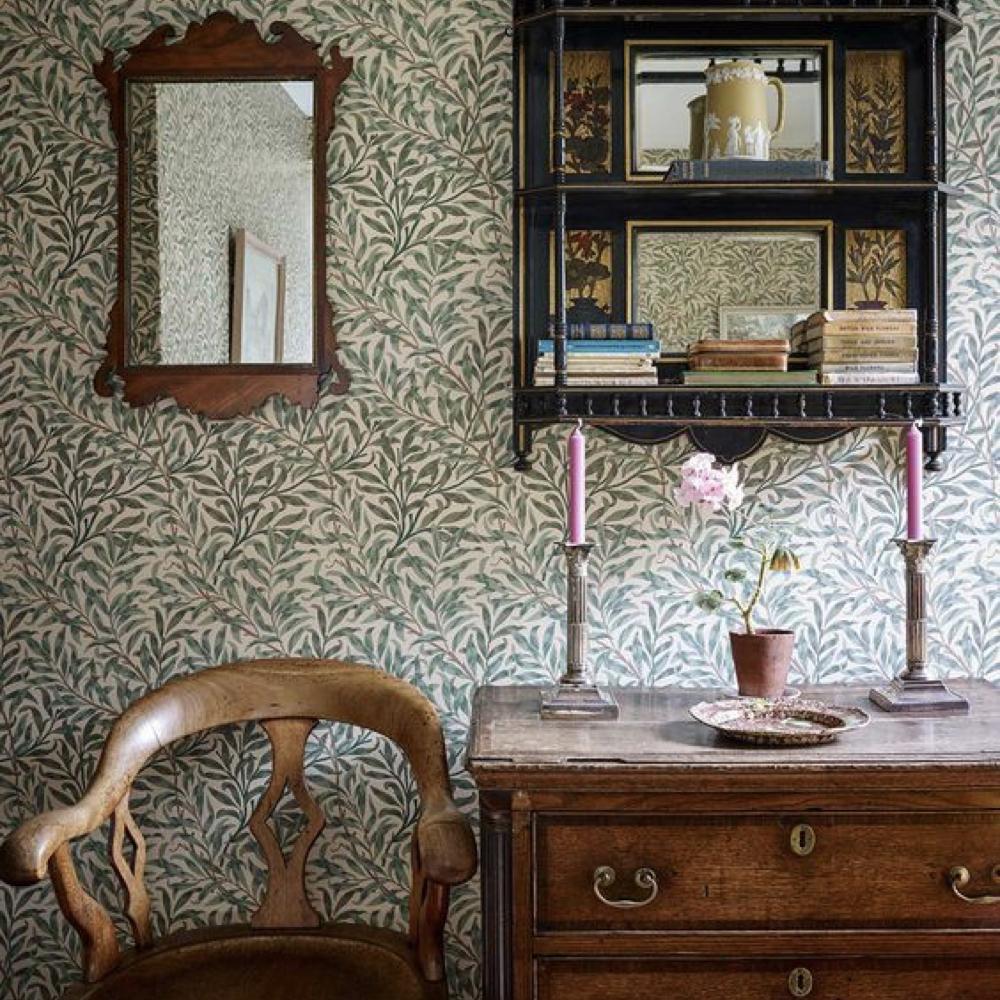 papier peint fleur cuisine salle a manger romantique 3