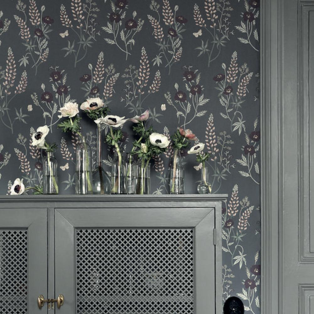 papier peint fleur cuisine salle a manger romantique 4