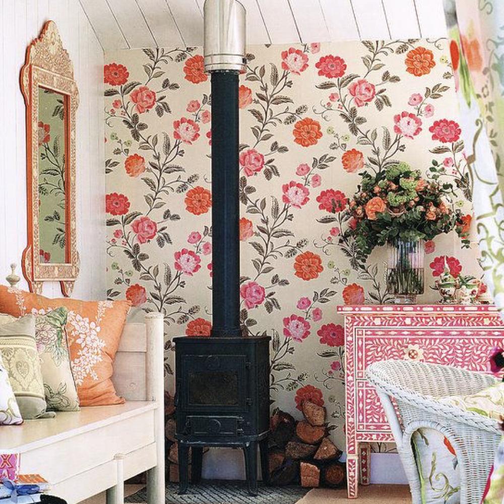 papier peint floral romantique 1