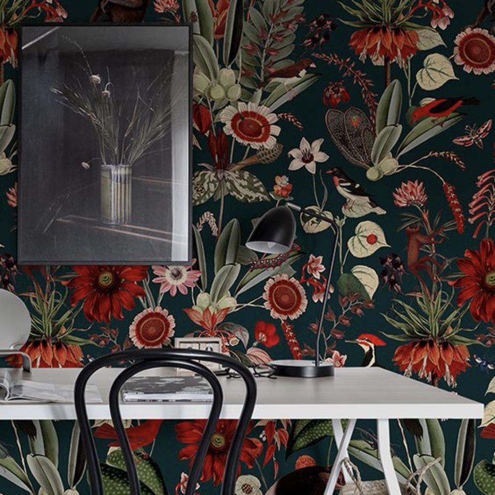 papier peint floral romantique 2