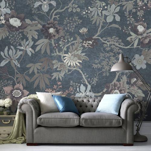 papier peint motif classique style nature