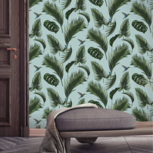 papier peint tendance feuille tropicale made in france