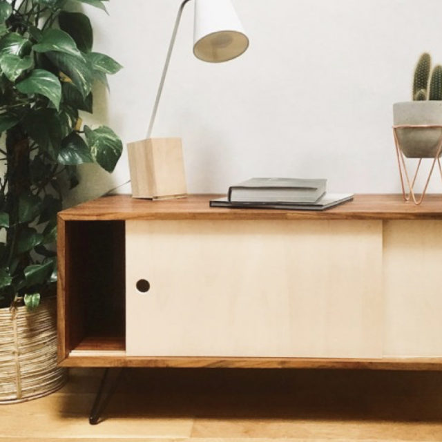pietement meuble tv retro vintage