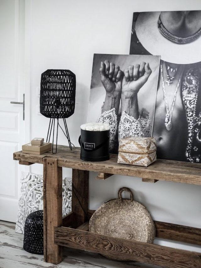 salle a manger deco rock affiche photo noir et blanc