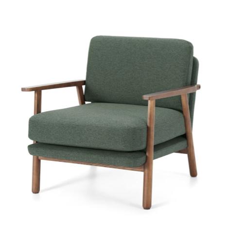 fauteuil mid-century armature bois