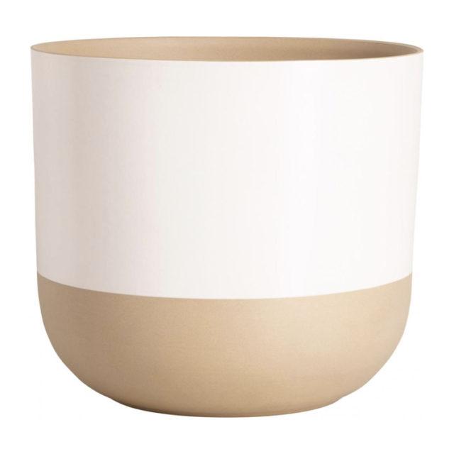 intérieur style nature cache-pot en gré blanc