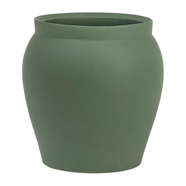 intérieur style naturel cache-pot vert