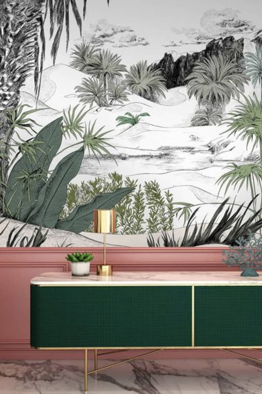 soubassement peinture et papier peint decoration 2
