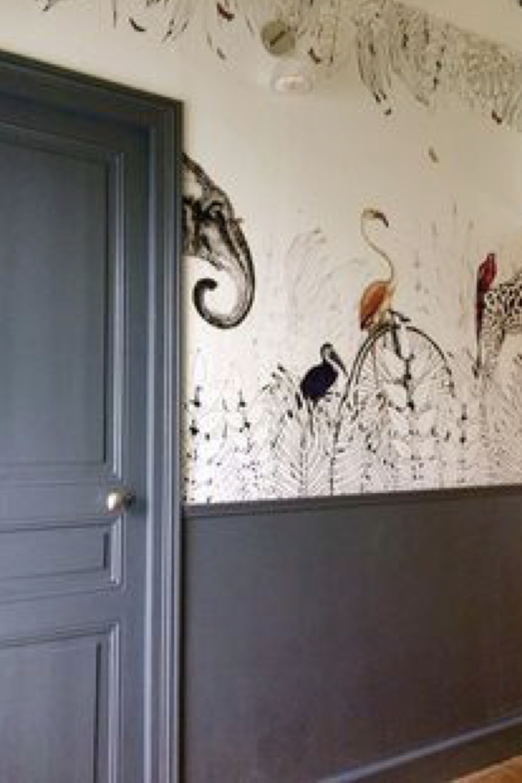 soubassement peinture et papier peint decoration 7