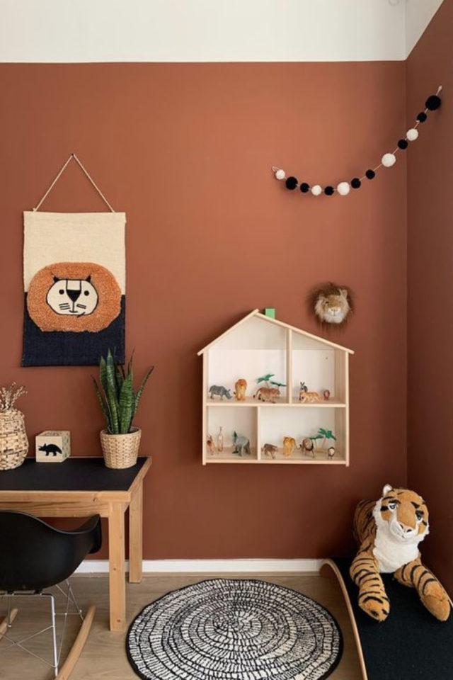 couleur terracotta style decoration peinture chambre enfant