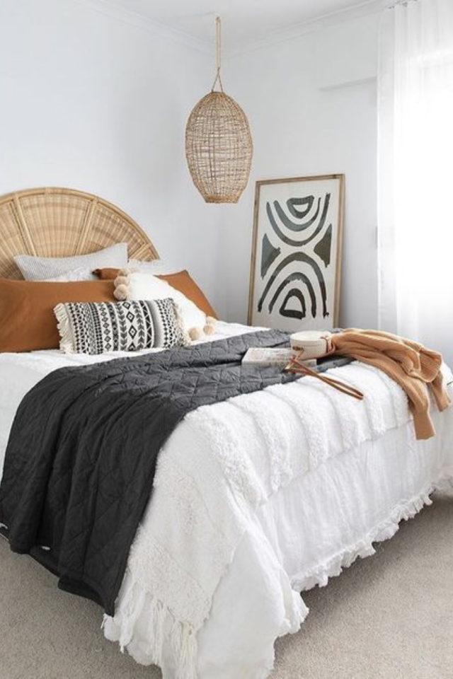 style deco couleur terracotta boheme chambre