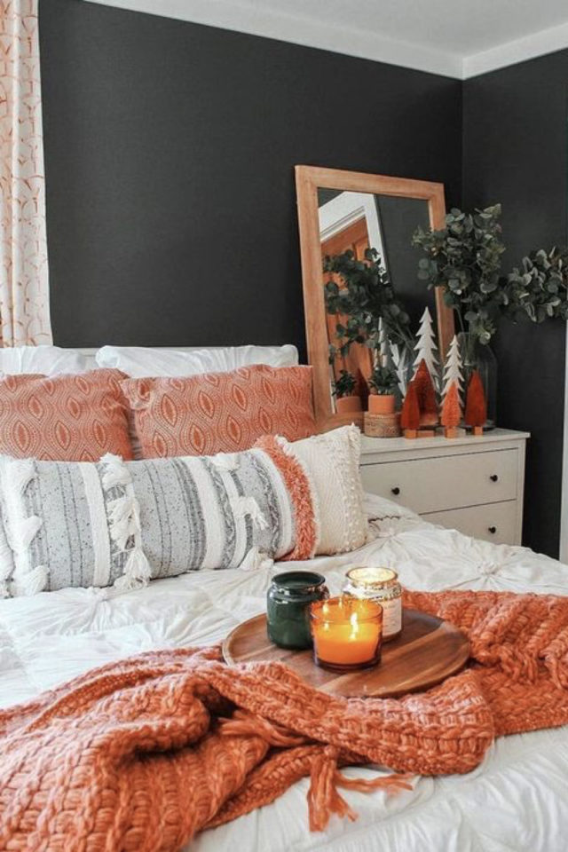 style deco couleur terracotta chambre moderne