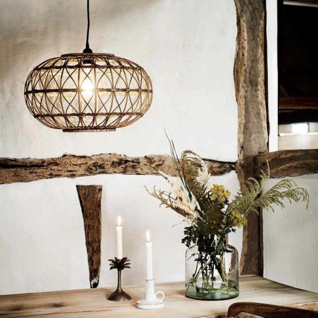 suspension style nature luminaire naturel