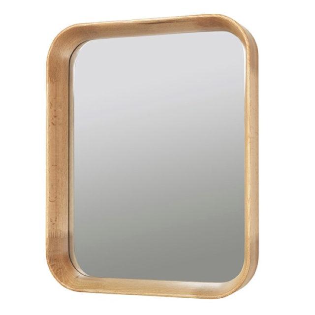 décoration murale nature miroir rectangulaire encadrement bois