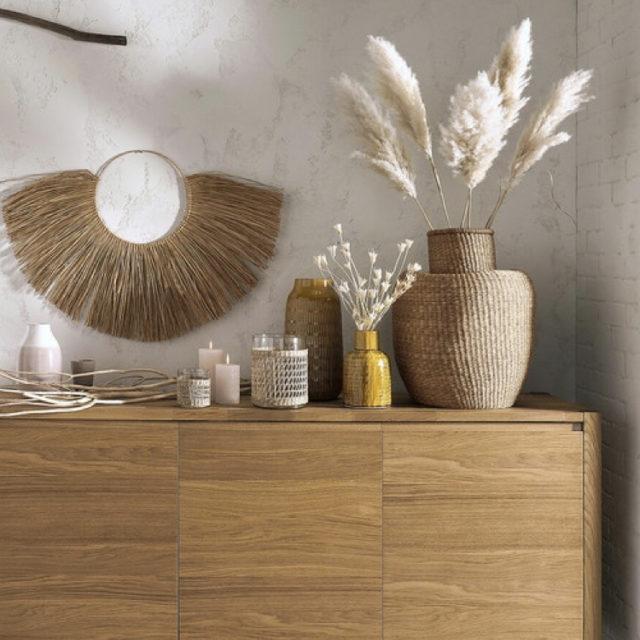 intérieur style nature jarre decorative