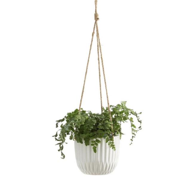 intérieur style nature cache-pot suspendu blanc