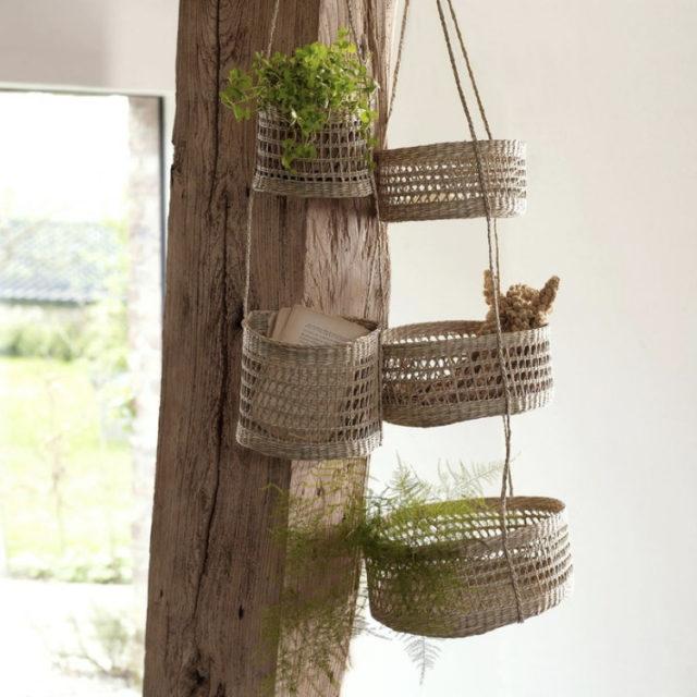 intérieur style nature cache-pot suspendu herbier