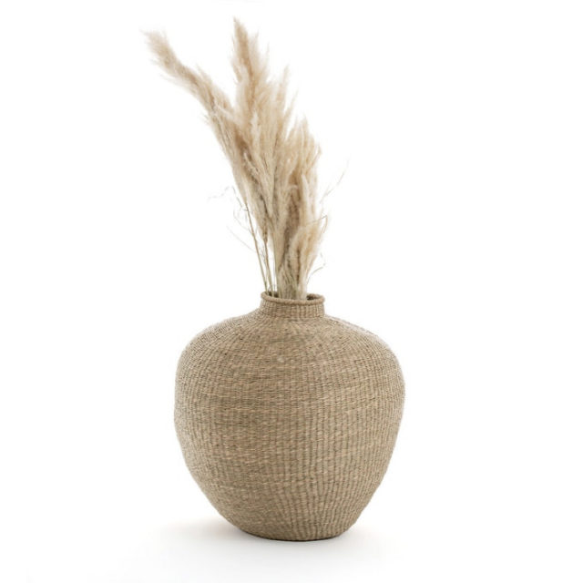 intérieur style nature vase en herbier