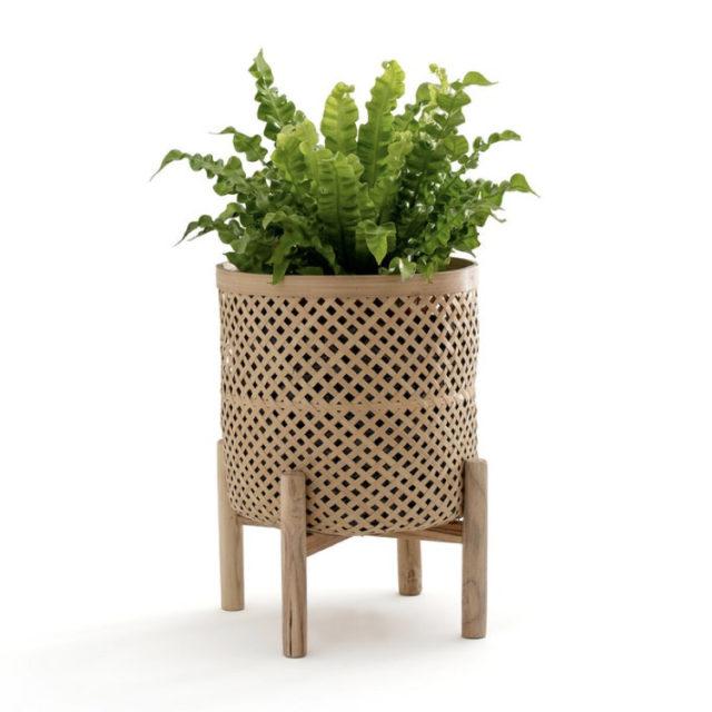 intérieur style nature cache-pot bambou
